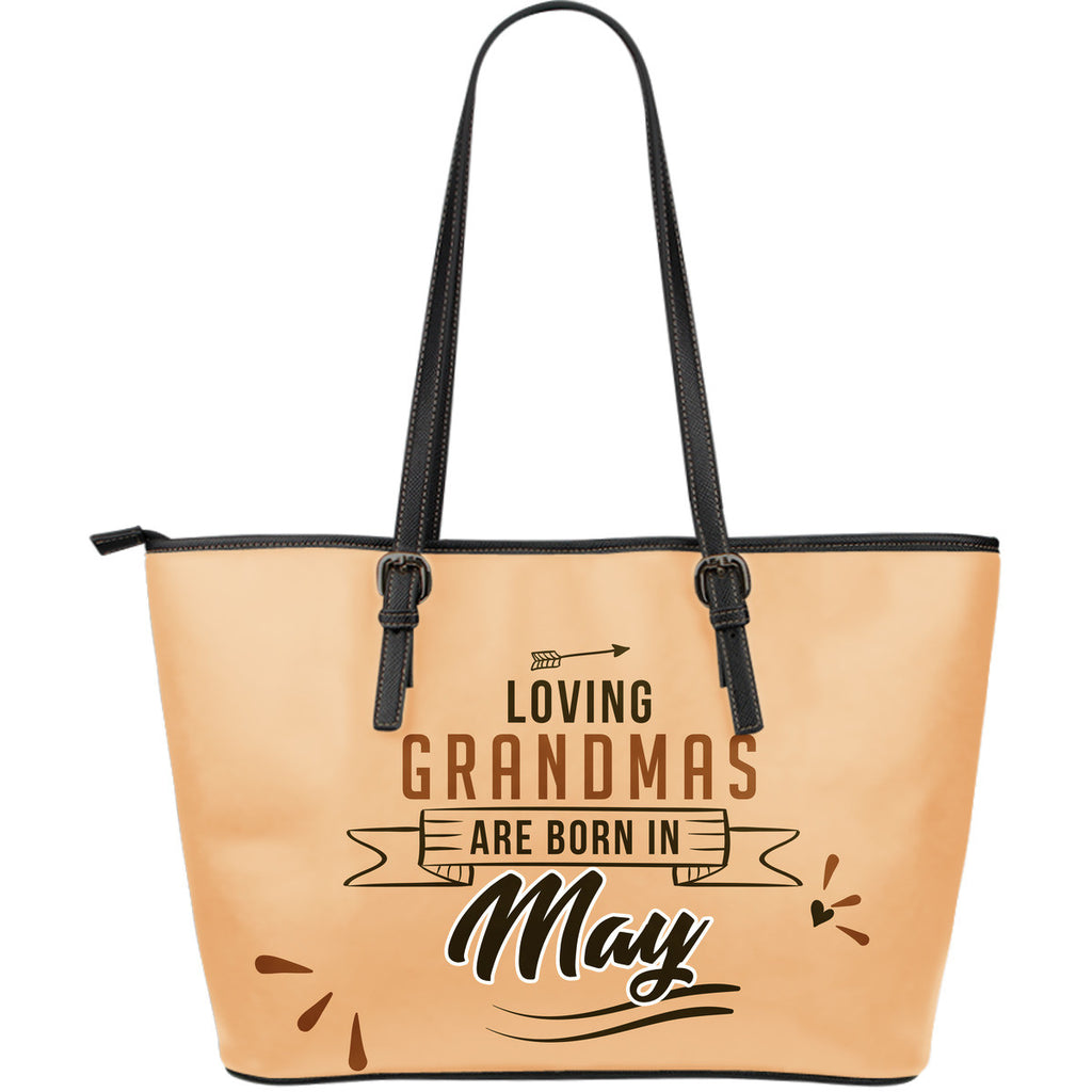 May Grandmas Leather Tote Bag