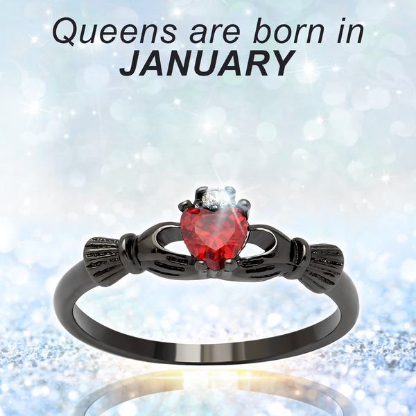 January Birthstone cz Ring (Garnet)