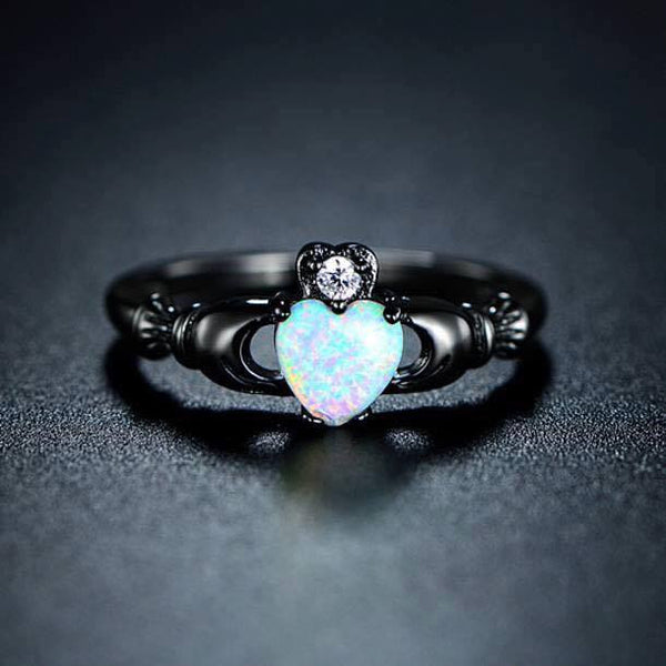 October Birthstone Opal Ring