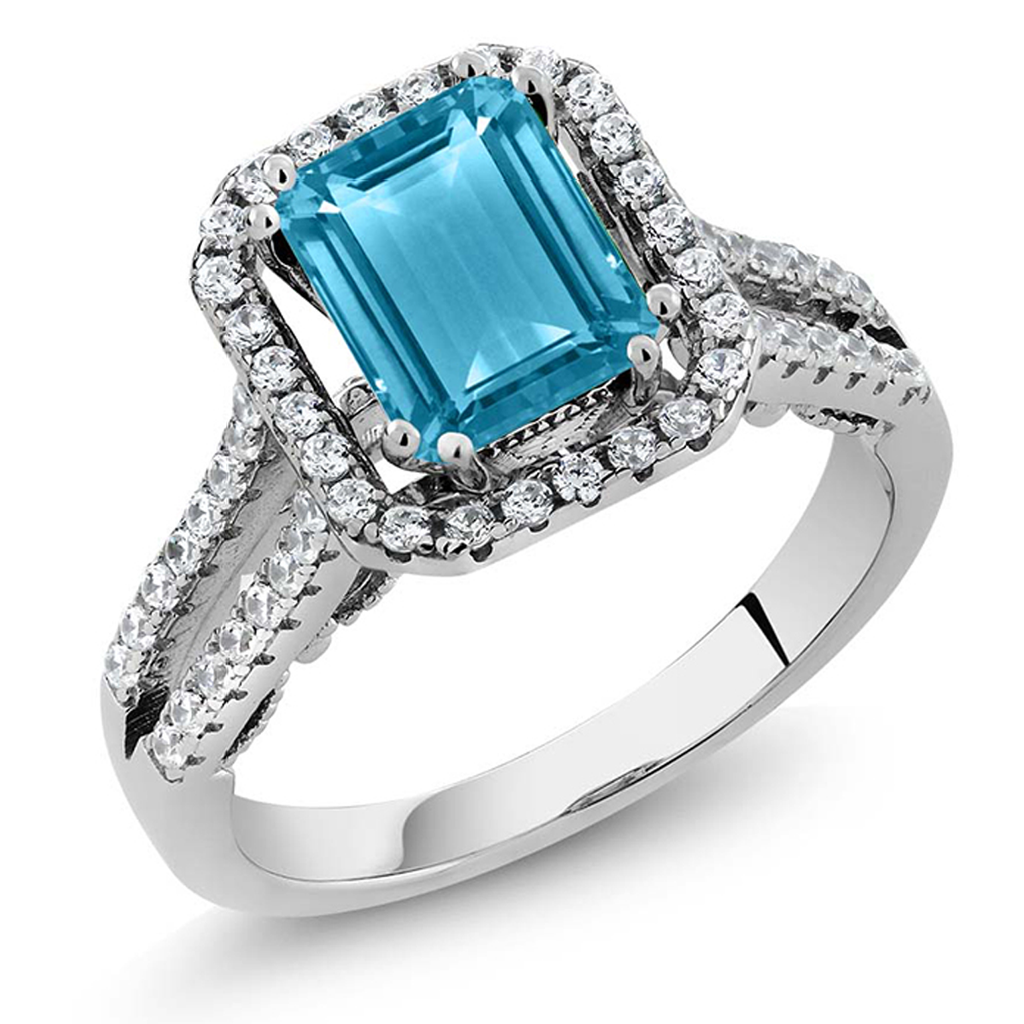 2.78ct Natural Blue Topaz (December) Band