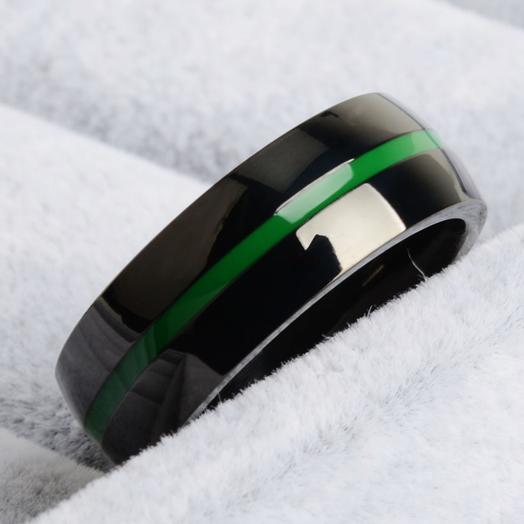 [Limited Edition] Thin Green Line Ring