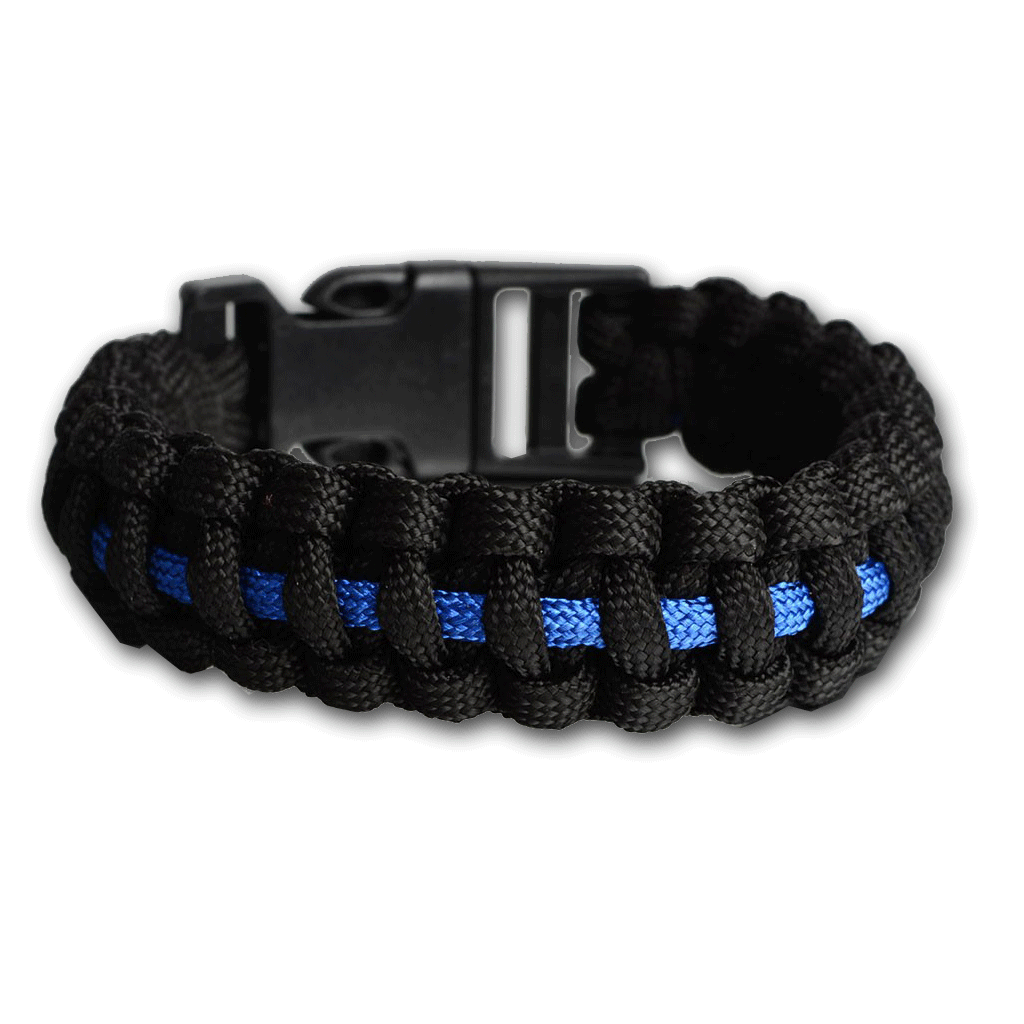 Thin Blue Line Inspired Paracord Bracelet