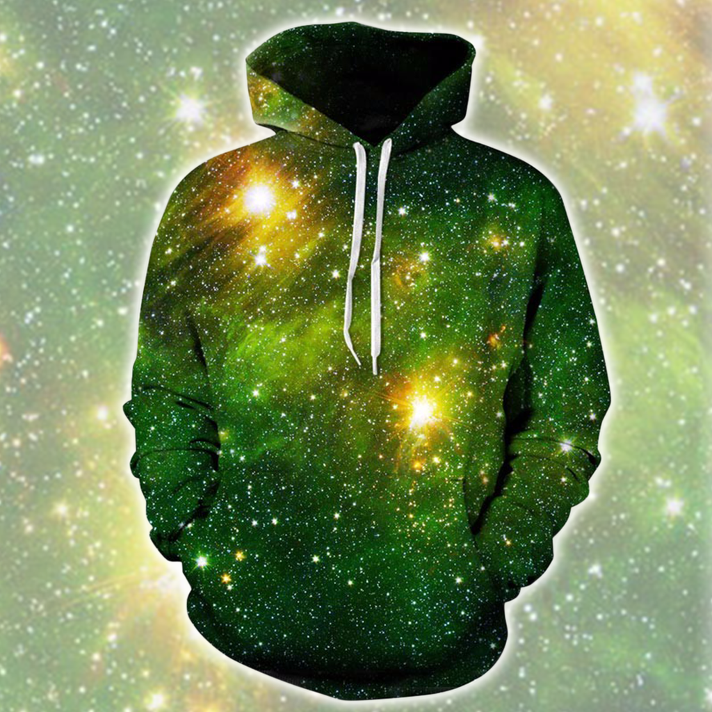 Emerald and Stars Hoodie (May)