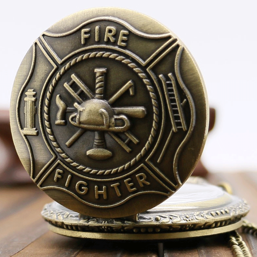 Firefighter's Bronze Pocket Watch (Collector's Item)