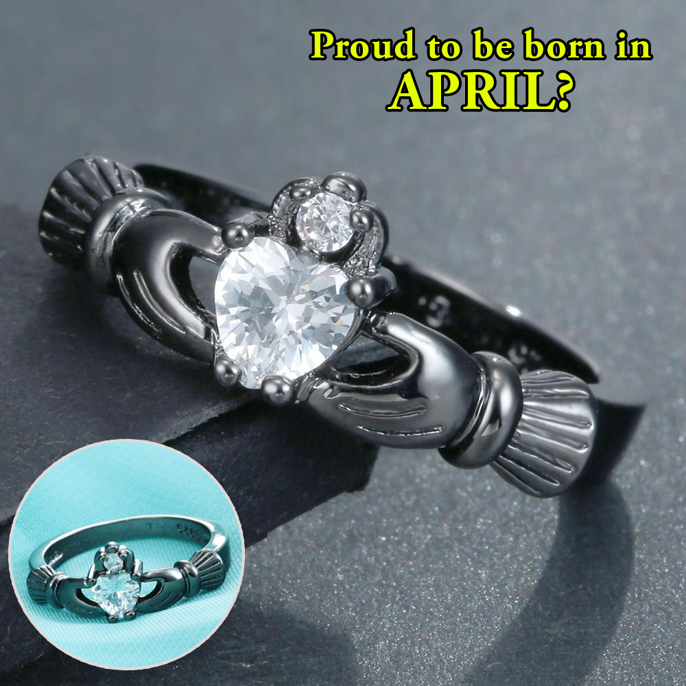 April Birthstone - Diamond CZ Ring