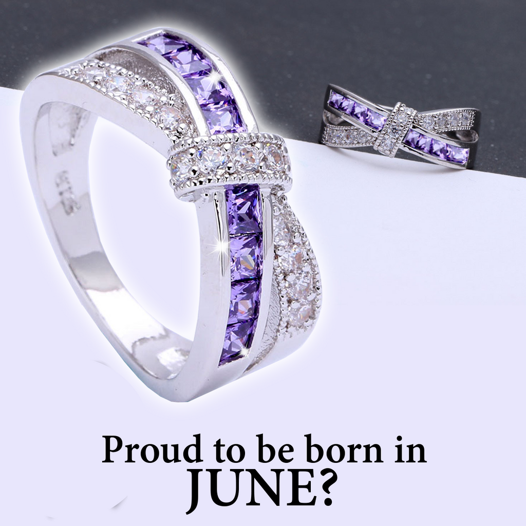 June Birthstone Alexandrite cz Ring