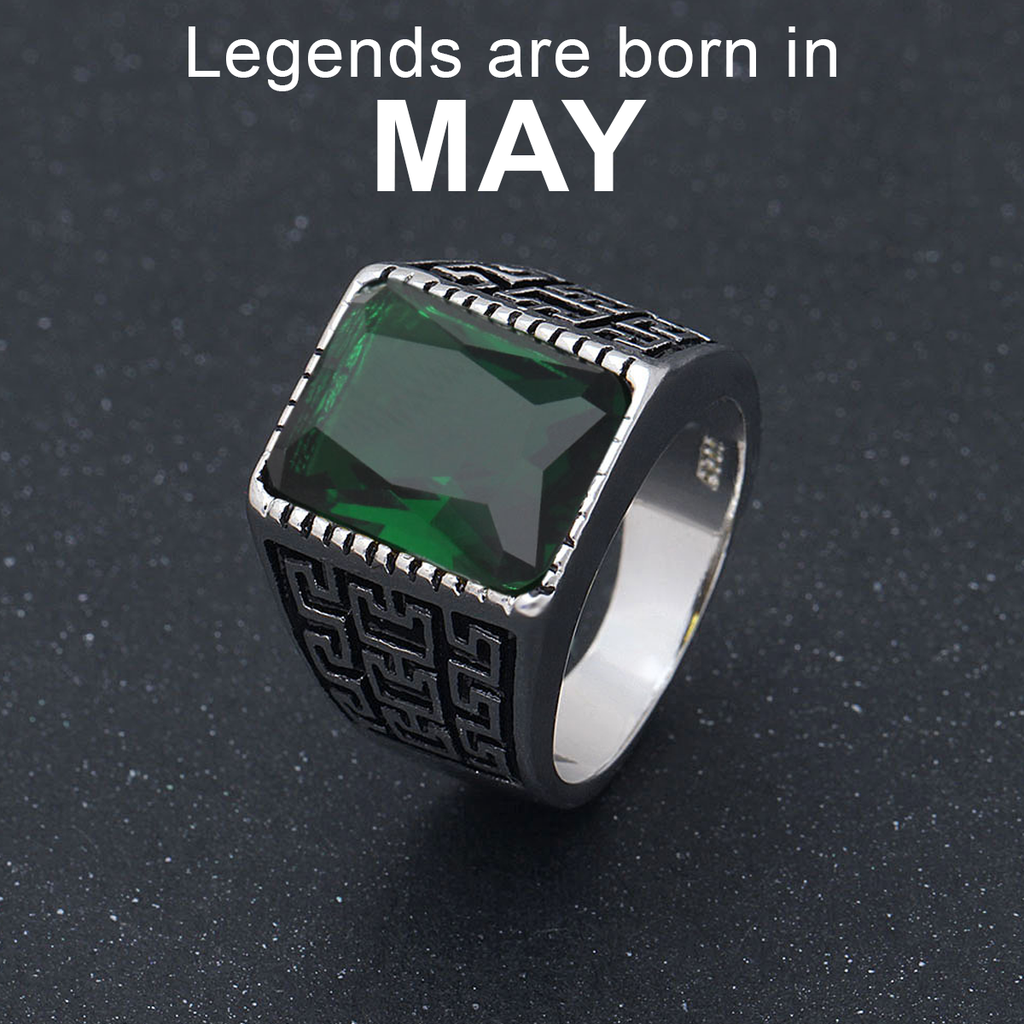 May Birthstone Band (Emerald)