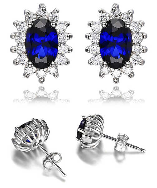 Bleed Blue Elegant Earrings