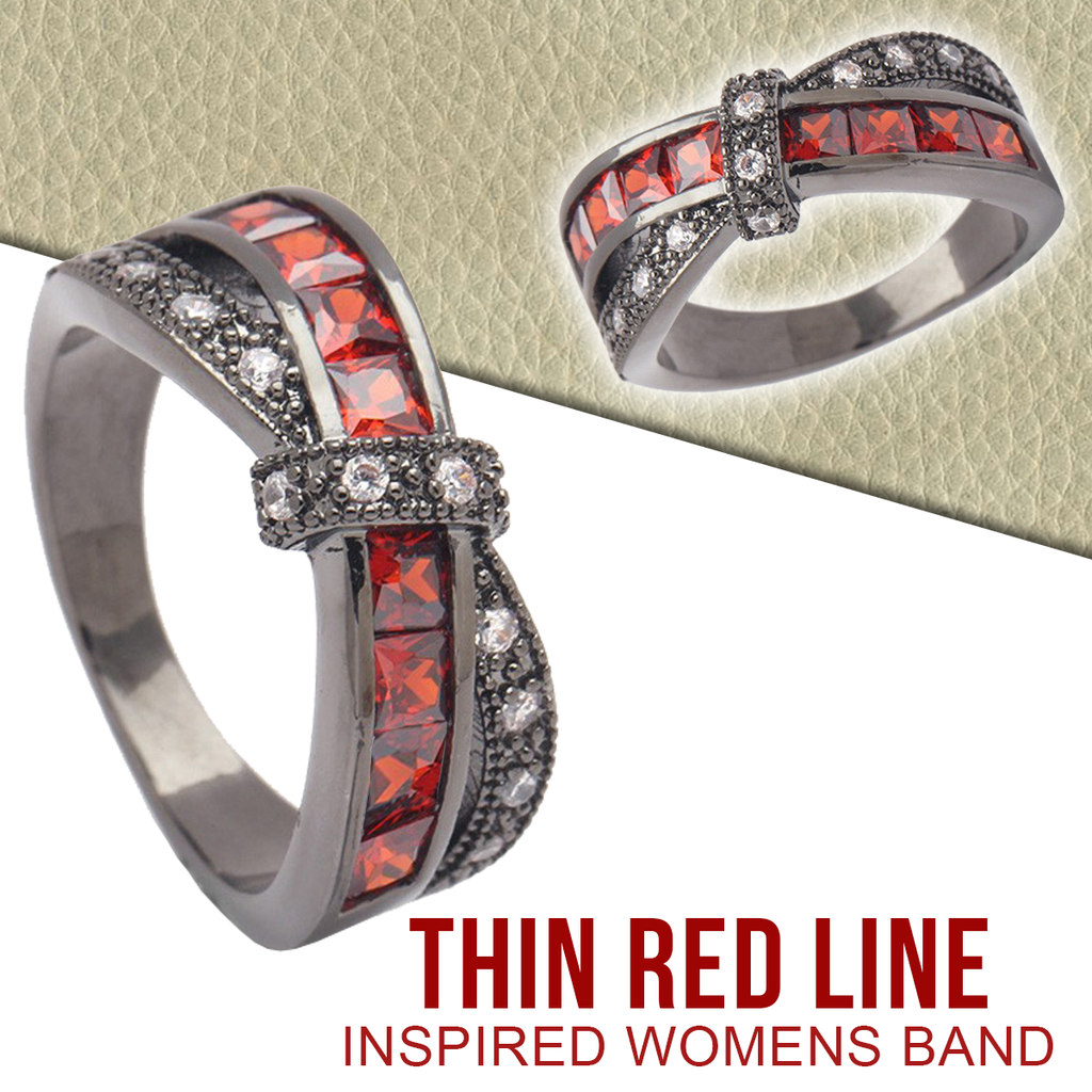 Thin Red Line inspired Women's Band
