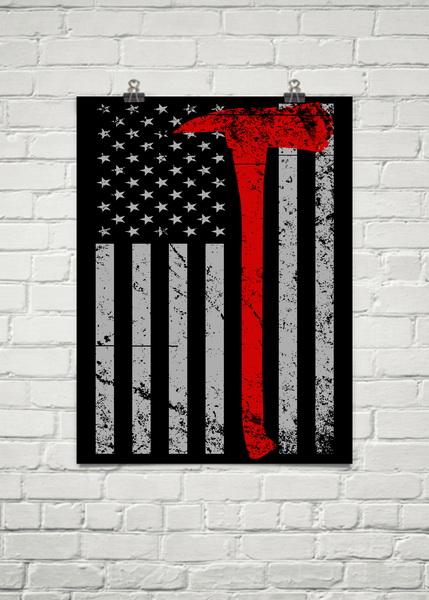 Thin Red Line Poster (Enhanced Matte)