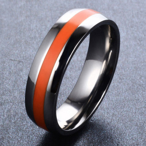 EMS - Thin Orange Line inspired Ring