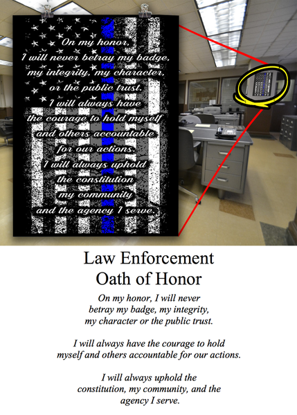 Law Enforcement's Oath of Honor Wall Art