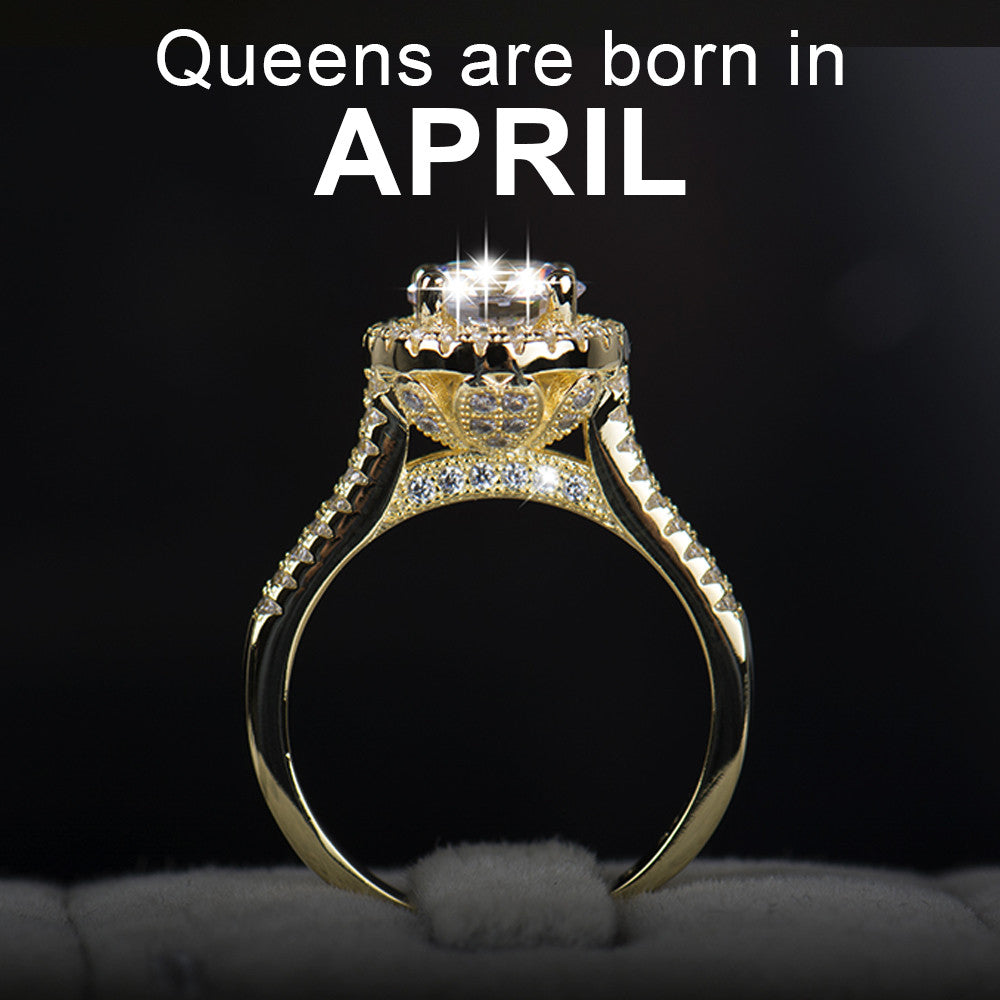 April Birthstone (Diamond cz Ring)