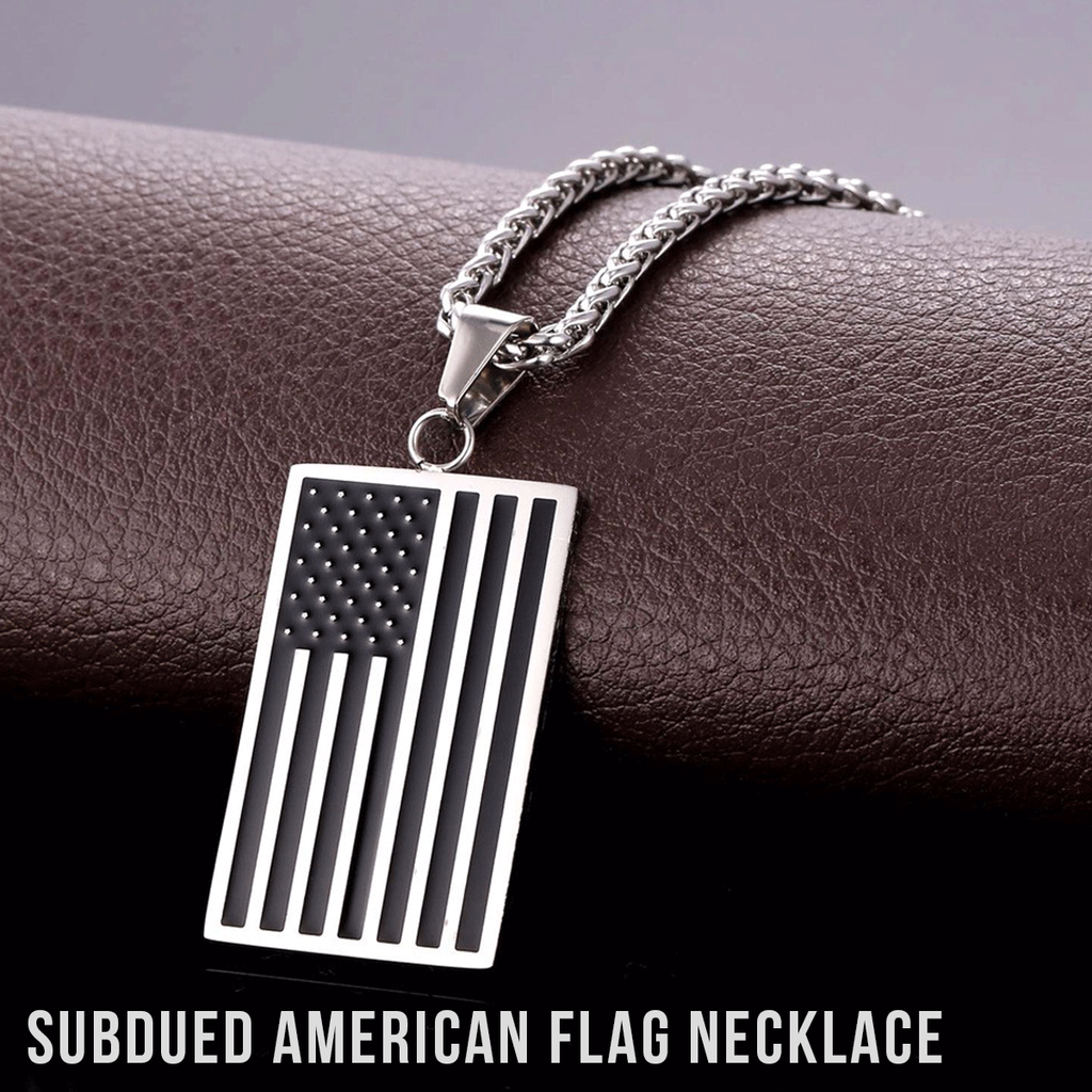 showroom stainless necklace unisex america com double steel and classic flag american alibaba manufacturers suppliers at