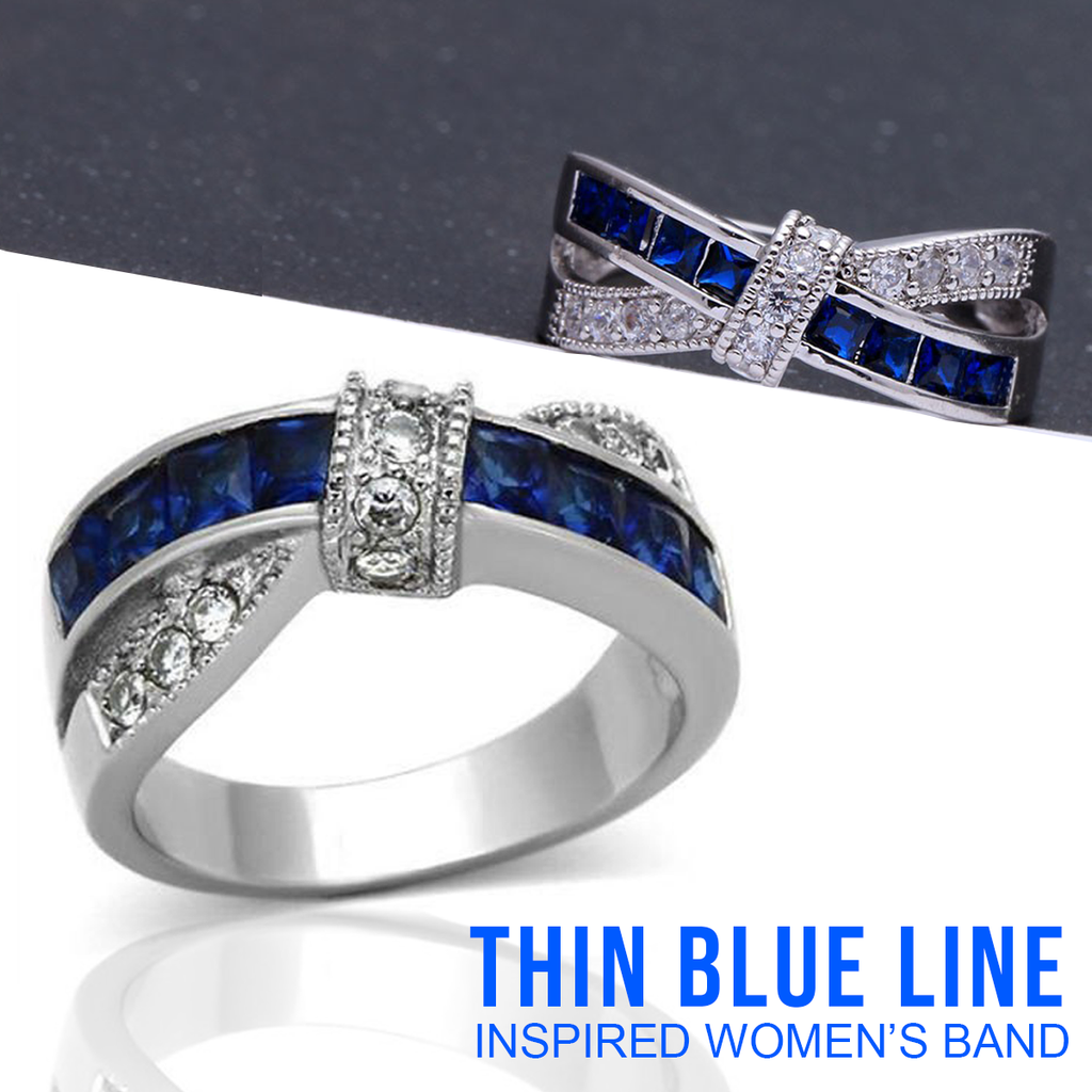 Thin Blue Line inspired Women's Band