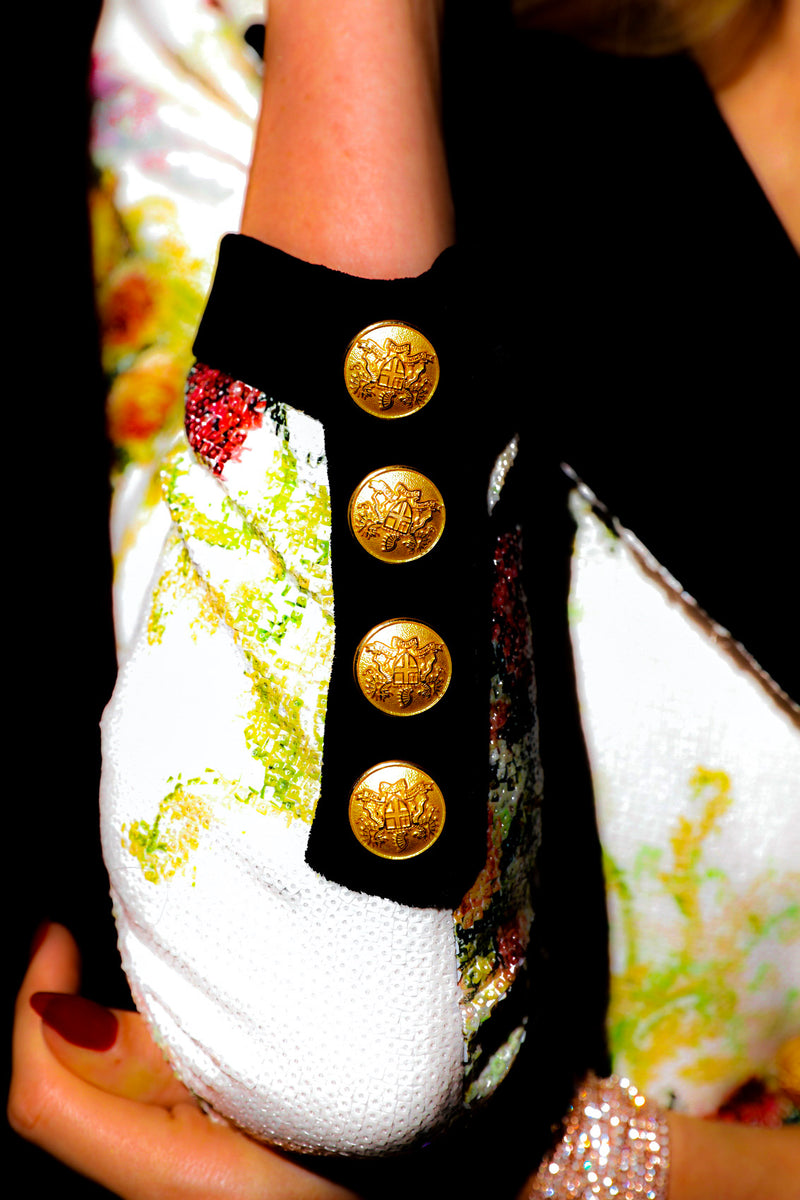 Flower Sequin Blazer