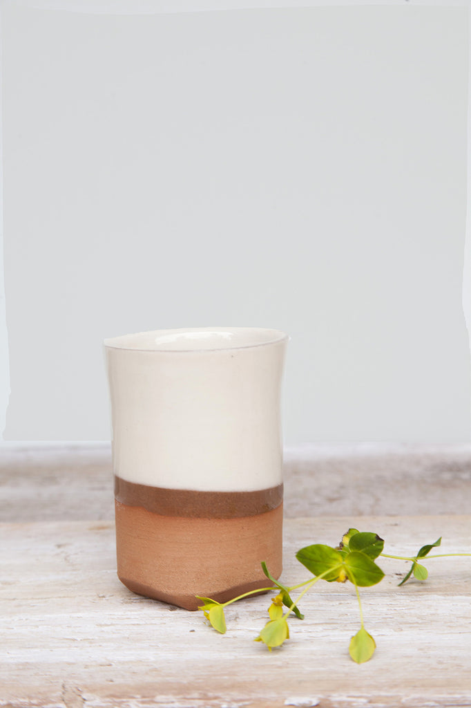 Glazed Beaker - Terracotta