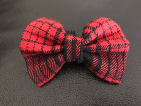 406c03e4987e Dog Bow Tie in Red and Black Plaid – Playful Paws Pet Supply