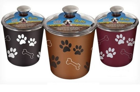 Dog Treat, Snack, And Food Stainless Steel Container , 72 Oz.