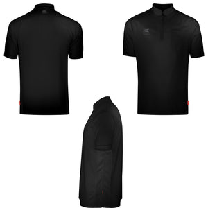 Target CoolPlay Collarless Black Dart Shirt