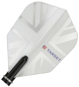 Target Vision 150 Rhino Ultra White Union Jack Dart Flights