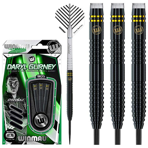 Winmau Daryl Gurney Darts - Steel Tip 90% Tungsten - SuperChin - Special Edition - Black - 23g 25g
