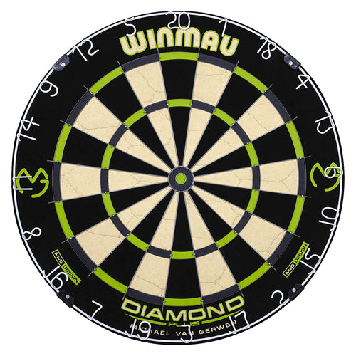 Winmau MvG Design Dartboard - Triangular Wire System - Diamond Plus