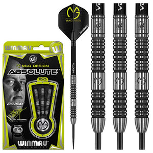 Winmau Michael van Gerwen Darts - Steel Tip - 90% Tungsten - MvG - Absolute - 22g to 24g