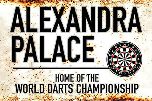 Metal Darts Sign - Alexandra Palace - Ally Pally - World Darts Championship - Man Cave - Darts Room