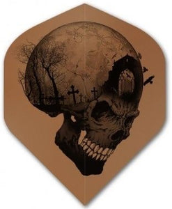 Alchemy Copper Chrome - Skull Grave  - Dart Flights - 100 Micron