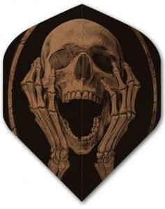 Alchemy Copper Chrome - Skull Hands - Dart Flights - 100 Micron