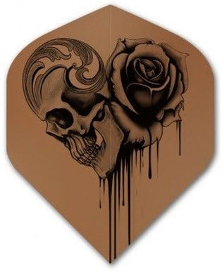 Alchemy Copper Chrome - Skull Rose - Dart Flights - 100 Micron