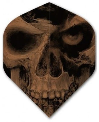 Alchemy Copper Chrome - Skull Eye  - Dart Flights - 100 Micron