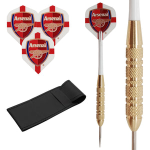 23g White Arsenal Brass Darts