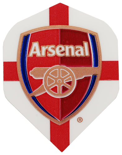 White Arsenal FC Football Dart Flights