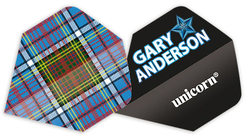 Unicorn Gary Anderson Tartan Authentic.100 Big Wing Flights