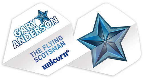 Unicorn Gary Anderson White Star Authentic.100 Big Wing Flights