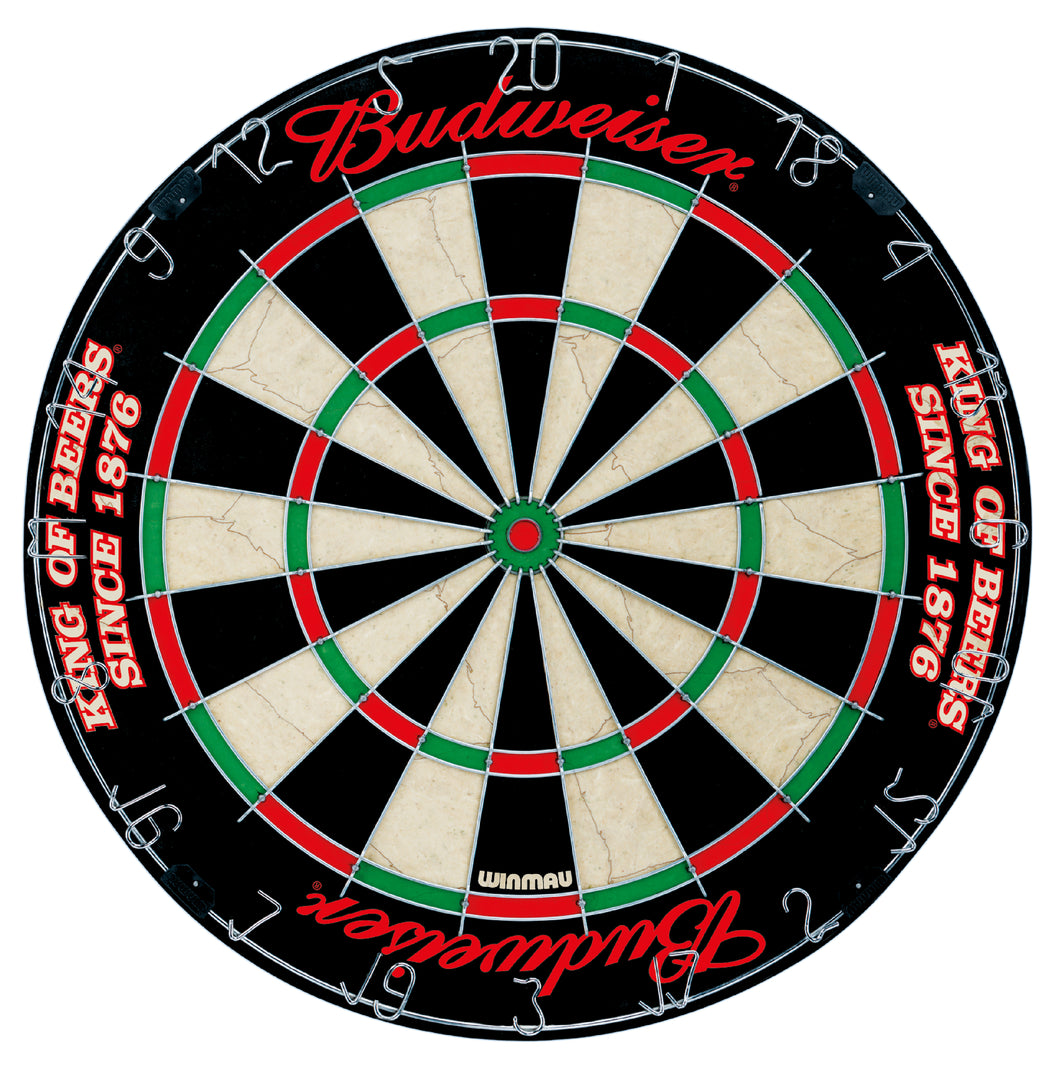 Winmau 100% Genuine Official Budweiser Dartboard - King Of Beers - Steel Tip
