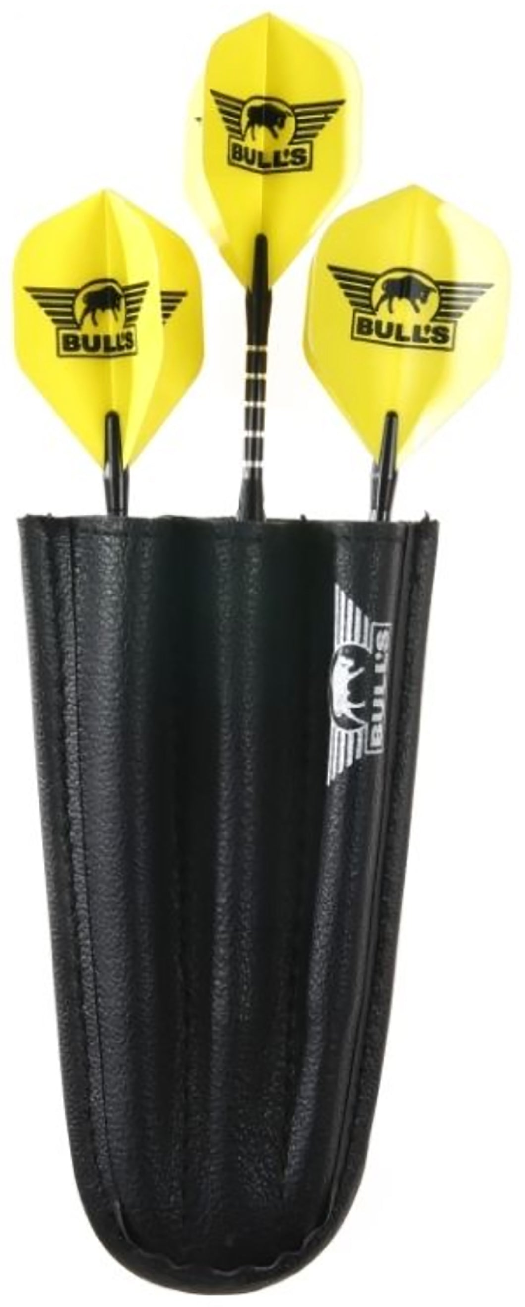 Bulls Keycord Wallet - Handy Pocket Size Dart Case - Black