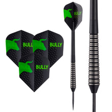 Bully Black Darts - Steel Tip - 85% Tungsten - Flights - Shafts - Wallet - 28g 30g - Type 4