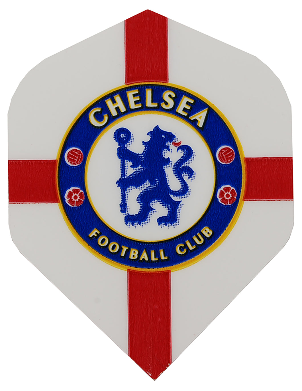 White Chelsea FC Football Dart Flights