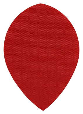 Red Fabric Pear Dart Flights