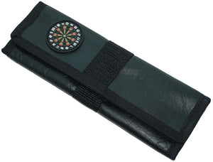Slimline Faux Leather Dart Wallet