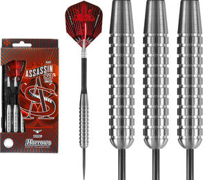 Harrows Assassin Darts - Steel Tip Tungsten - Made in England - Heavy - 30g