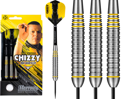 Harrows Dave Chisnall Darts - Steel Tip Brass - Made in England - Chizzy - 21g to 24g