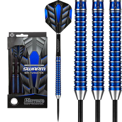 Harrows Swarm - 90% Tungsten Steel Tip Darts - 21g - 26g
