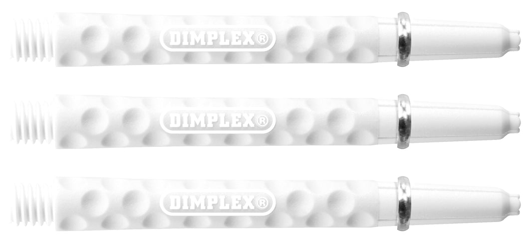 Harrows Dimplex Dart Shafts - White - Medium - Short