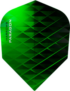 Harrows Paragon Dart Flights - 100 Micron - Extra Strong - Green