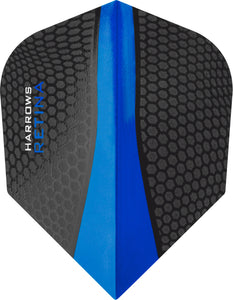 Harrows Retina Dart Flights - Blue - 100 Micron - Standard Shape