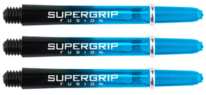 Harrows Supergrip Fusion Dart Shafts - Black & Aqua